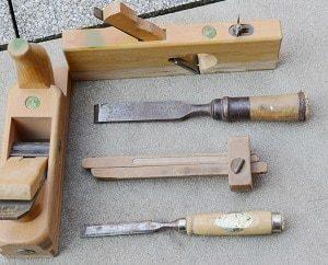 Schreiner, Werkzeug, Holzwerkzeug, Metallwerkzeug, Holz, Metall, Spachtel, Holzgriff