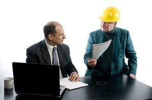 Bauunternehmer, Anwalt, Jurist, Vereinbarung